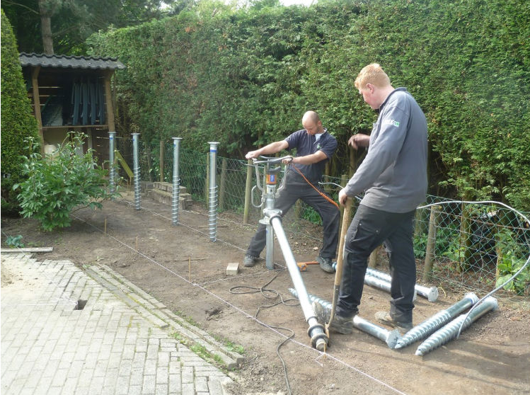 fundering voor tuinmuur of schutting
